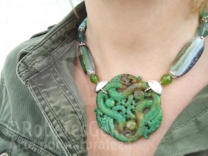 Kyoto. Collar Fluorita, Jade y Aventurina