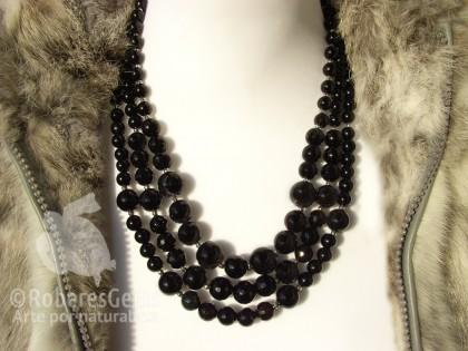 Amorgos. Collar de Ónix y plata