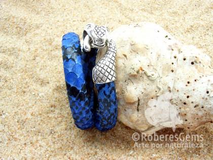 Phuket. Pulsera Pitón azul marino