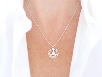 Céfiro. Collar Buda Mandala en plata
