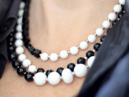 Amorgos. Collar de Ónix y Ágata blanca