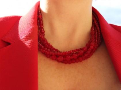Amorgos. Collar de Jade y Plata Varias Vueltas