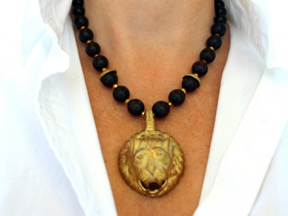 Serengueti. Collar de Ébano y bronce