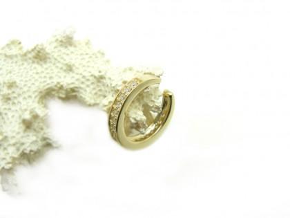 Etna. Ear Cuff aro de oro y carril de Circonitas