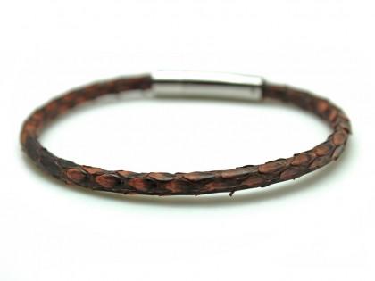 Borneo. Pulsera Piel Serpiente marrón