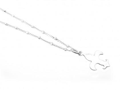 Collar Céfiro. Doble cadena y flechas plata