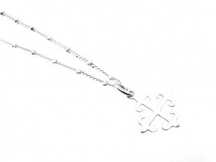 Céfiro. Collar Cruz de Calatrava en plata