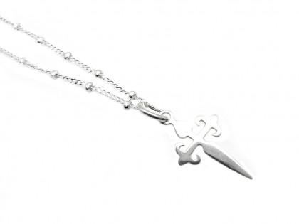 Céfiro. Collar Cruz de Santiago en plata