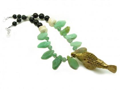 Serengueti. Collar Aventurina, Jade, Ébano y Bronce