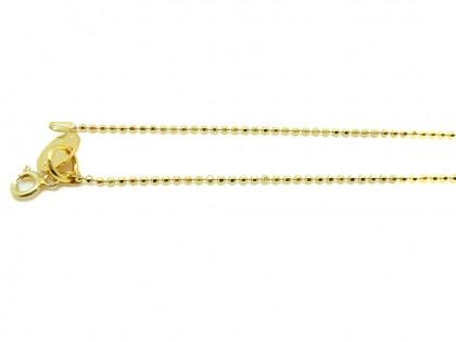 Cadena de bolitas facetadas oro
