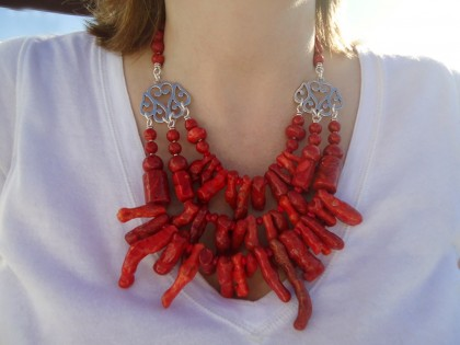 Collar Andros. Coral