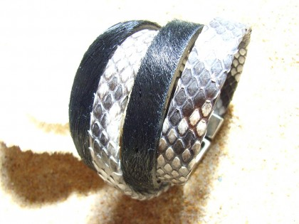 Pulsera Malasia. Serpiente natural