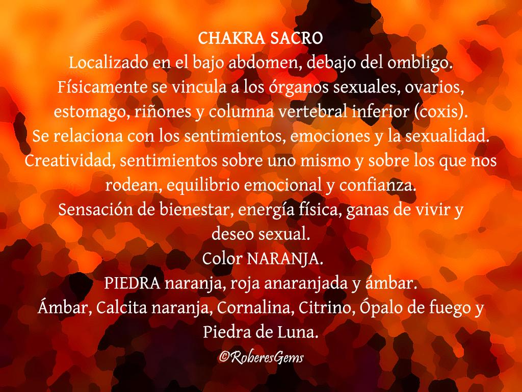 Chakra Sacro. Color Naranja.