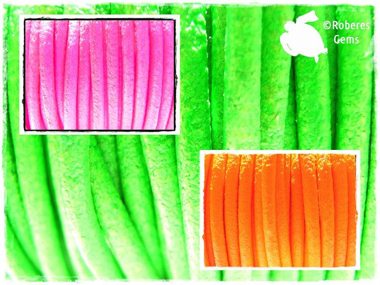 Cuero de colores flúor