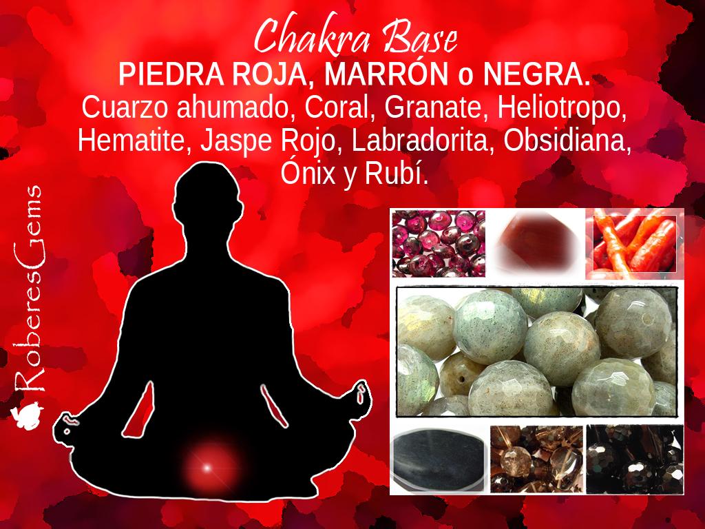 Piedra Roja y Negra. Chakra Base.