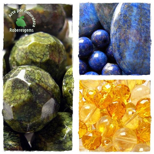 Colores Análogos. Serpentina, lapis y citrino