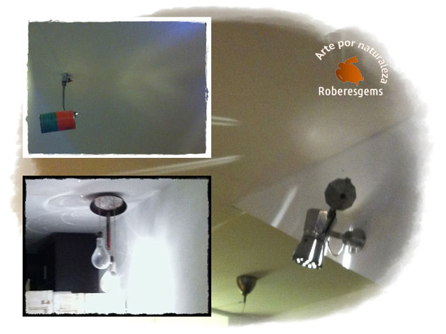 DIY Ideas lámpara con menaje de cocina