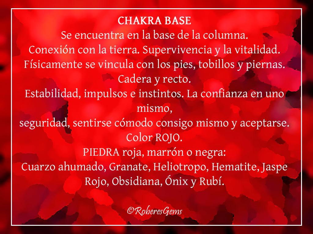 Primer Chakra. Rojo