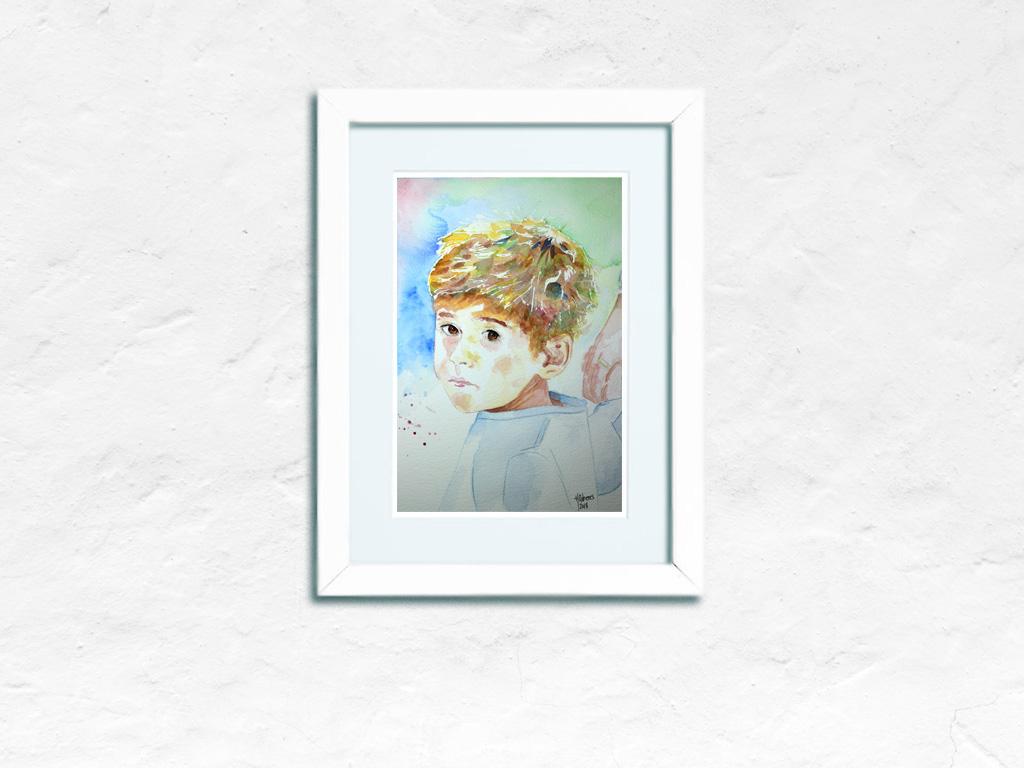 Retrato en Acuarela por encargo con una foto