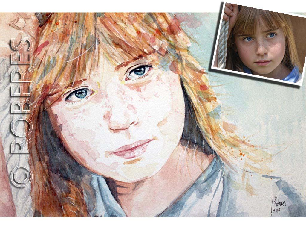 Pide tu retrato en Acuarela