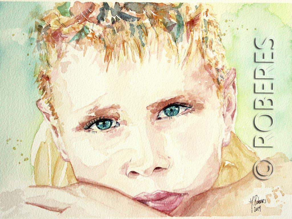 Encargo de Retrato Acuarela de niños