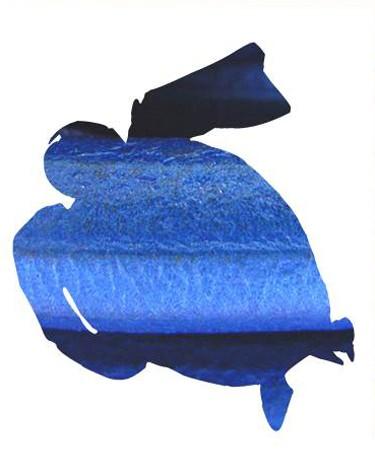 Cuero Regaliz Azul Metalizado