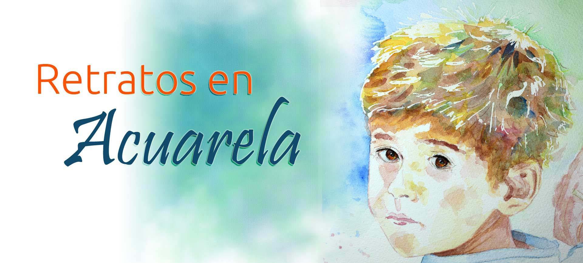 Retratos en Acuarela pintados a mano. Ya puedes encargar tu Acuarela